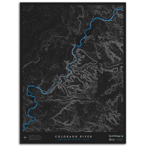 COLORADO RIVER TOPO MAP - WESTWATER CANYON, UT