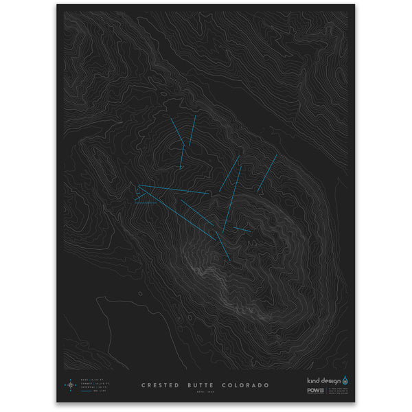 CRESTED BUTTE COLORADO - TOPO MAP