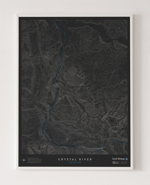 CRYSTAL RIVER TOPO MAP - COLORADO