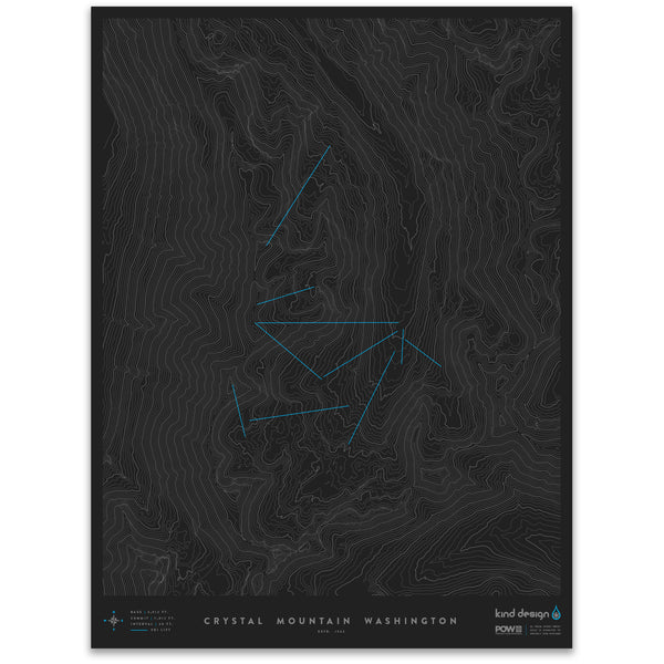 CRYSTAL MOUNTAIN WASHINGTON - TOPO MAP