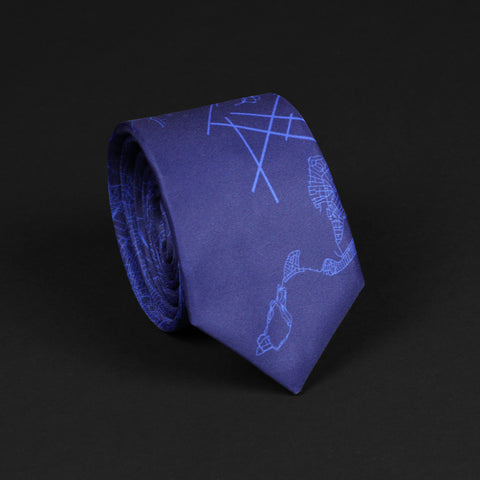 BOSTON STREET MAP TIE
