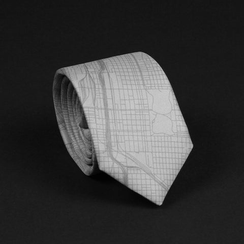 CHICAGO STREET MAP TIE