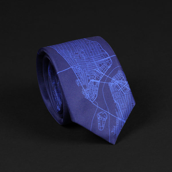 NEW YORK STREET MAP TIE