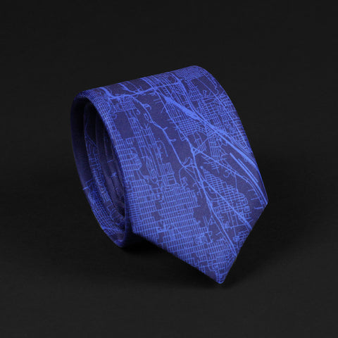 SEATTLE STREET MAP TIE