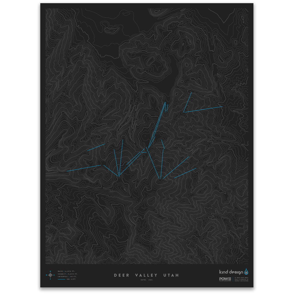 DEER VALLEY UTAH - TOPO MAP