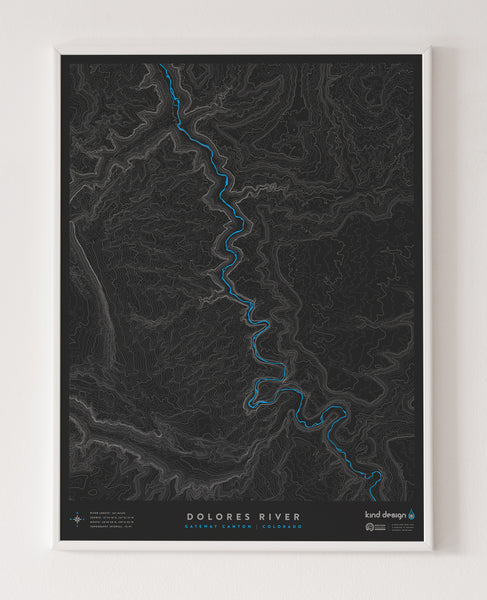 DOLORES RIVER TOPO MAP - GATEWAY CANYON, CO