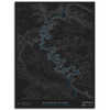 DOLORES RIVER TOPO MAP - SLICK ROCK CANYON, CO