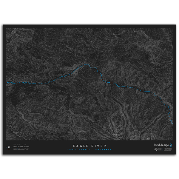 EAGLE RIVER TOPO MAP - EAGLE COUNTY, CO
