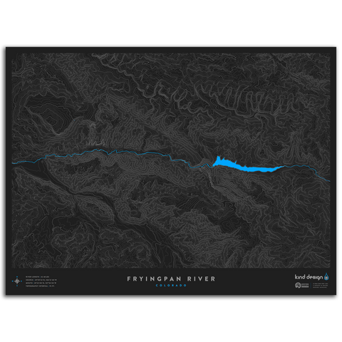 FRYINGPAN RIVER TOPO MAP - COLORADO
