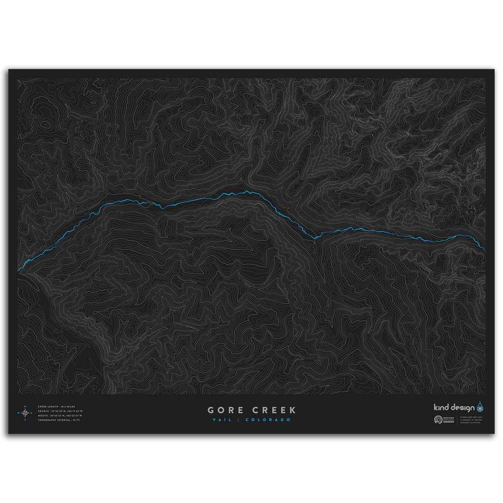 GORE CREEK TOPO MAP - VAIL, CO