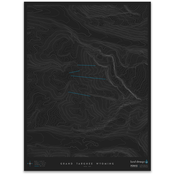 GRAND TARGHEE WYOMING - TOPO MAP