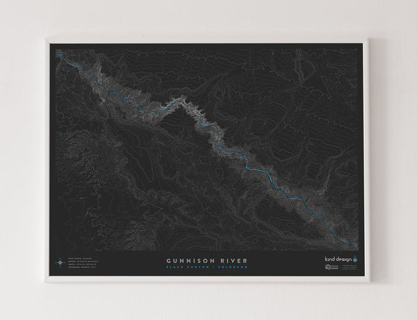 GUNNISON RIVER TOPO MAP - BLACK CANYON, CO