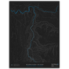 GUNNISON RIVER TOPO MAP - GUNNISON GORGE, CO