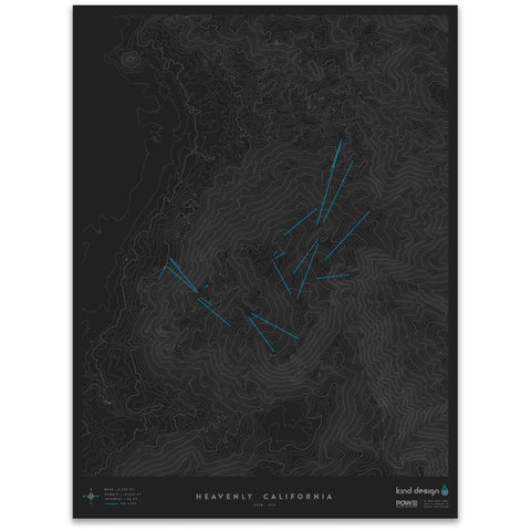 HEAVENLY CALIFORNIA - TOPO MAP