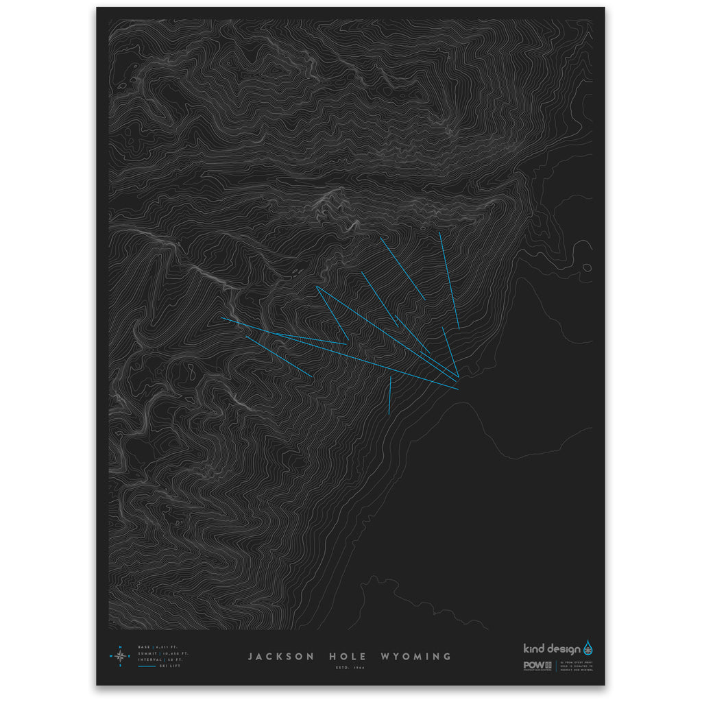 JACKSON HOLE WYOMING - TOPO MAP