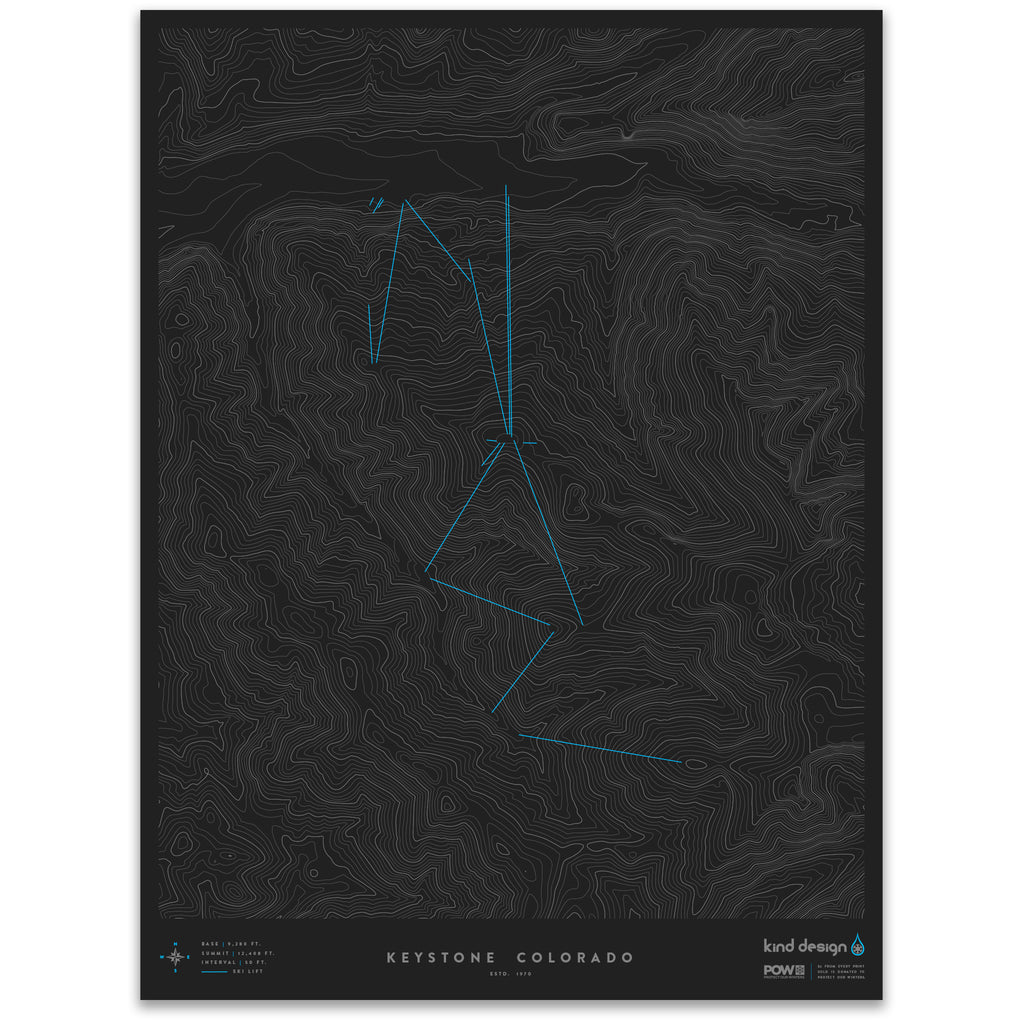 KEYSTONE COLORADO - TOPO MAP
