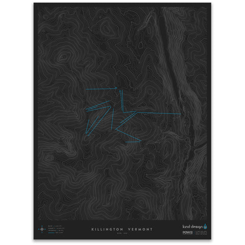 KILLINGTON VERMONT - TOPO MAP