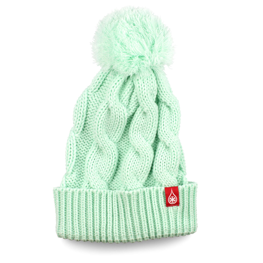 KIND BRAIDED BEANIE - AQUA