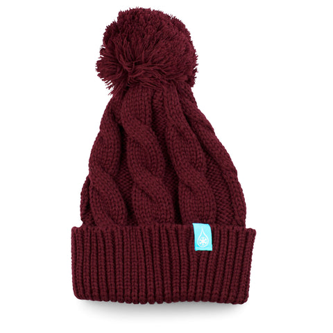 KIND BRAIDED BEANIE - BURGUNDY