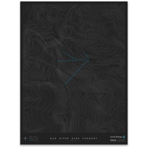 MAD RIVER GLEN VERMONT - TOPO MAP