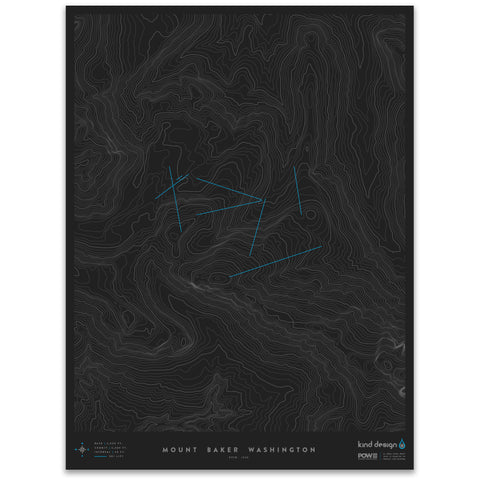 MOUNT BAKER WASHINGTON - TOPO MAP