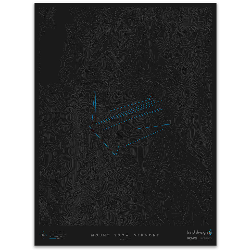 MOUNT SNOW VERMONT - TOPO MAP