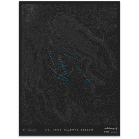 MT. HOOD MEADOWS OREGON - TOPO MAP