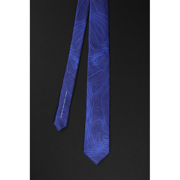 OLYMPIC NATIONAL PARK TOPO TIE