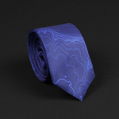 YELLOWSTONE NATIONAL PARK TOPO TIE