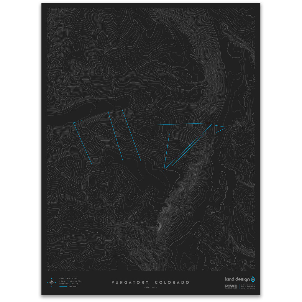 PURGATORY COLORADO - TOPO MAP