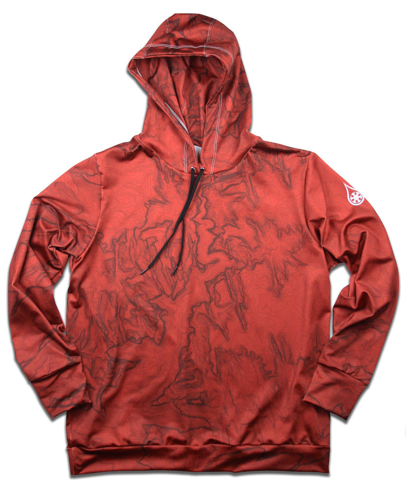 NATIONAL PARK TOPO HOODIE / RED