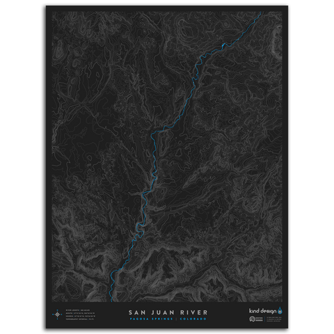 SAN JUAN RIVER TOPO MAP - PAGOSA SPRINGS, CO