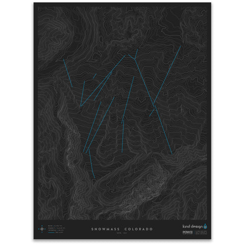 SNOWMASS COLORADO - TOPO MAP