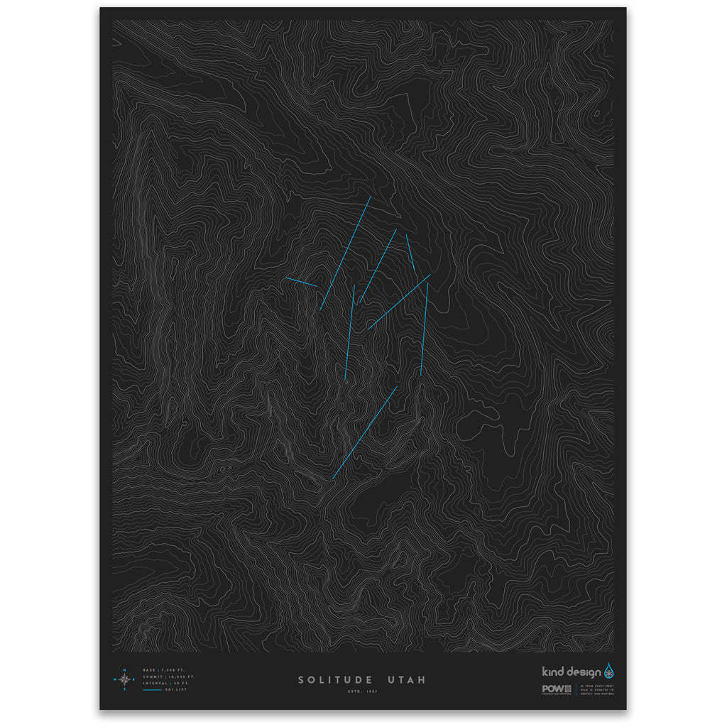 SOLITUDE UTAH - TOPO MAP
