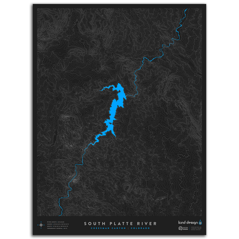 SOUTH PLATTE RIVER TOPO MAP - CHEESMAN CANYON, CO