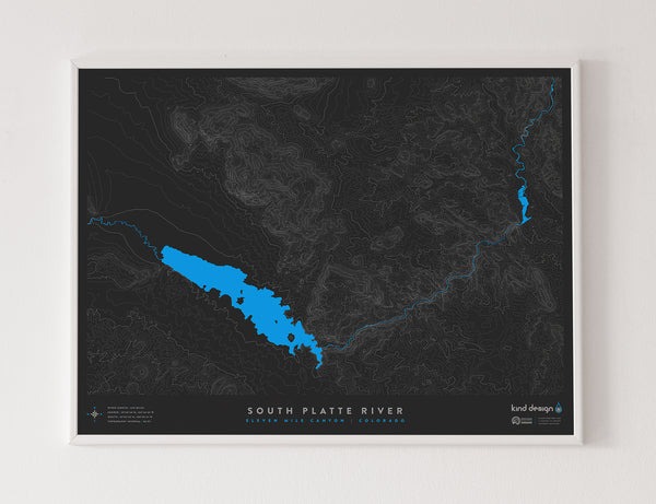 SOUTH PLATTE RIVER TOPO MAP - ELEVEN MILE CANYON, CO
