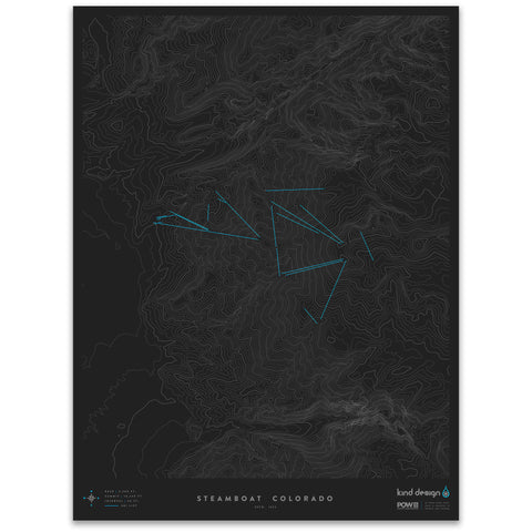 STEAMBOAT COLORADO - TOPO MAP