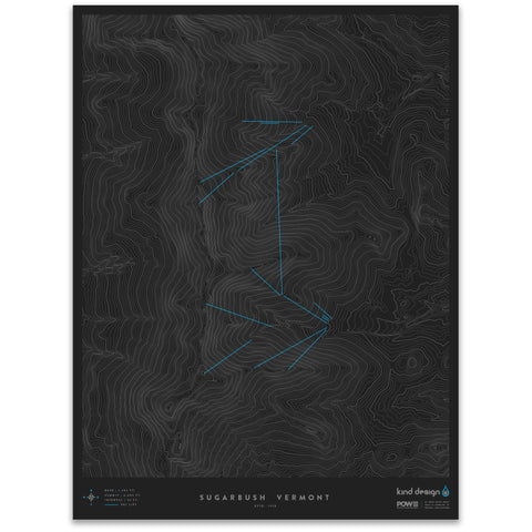 SUGARBUSH VERMONT - TOPO MAP