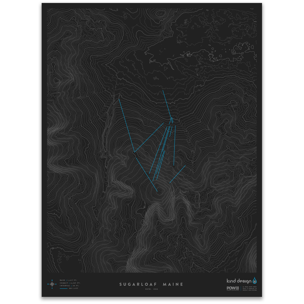 SUGARLOAF MAINE - TOPO MAP
