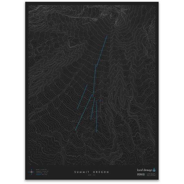 SUMMIT OREGON - TOPO MAP