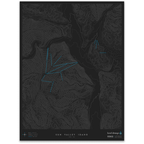 SUN VALLEY IDAHO - TOPO MAP