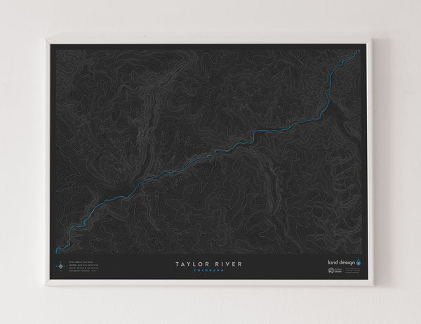 TAYLOR RIVER TOPO MAP - COLORADO