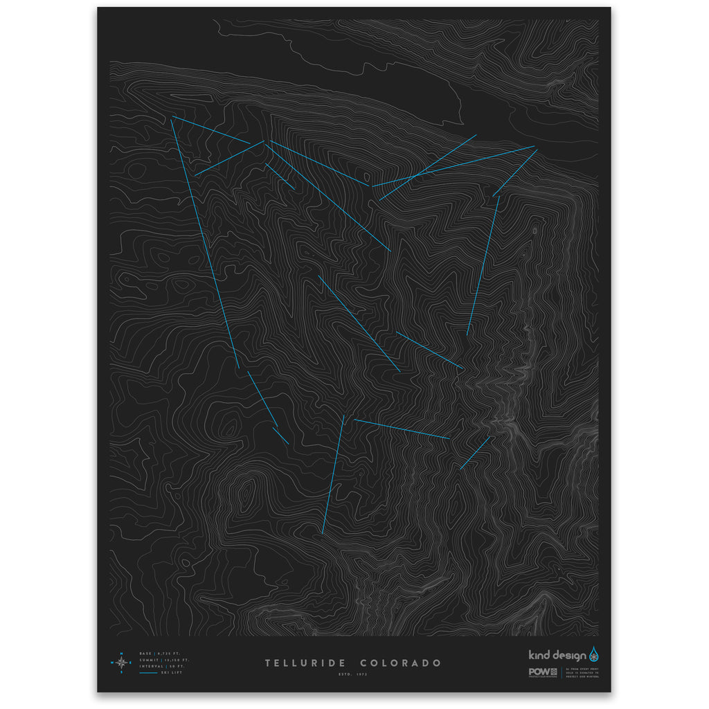 TELLURIDE COLORADO - TOPO MAP