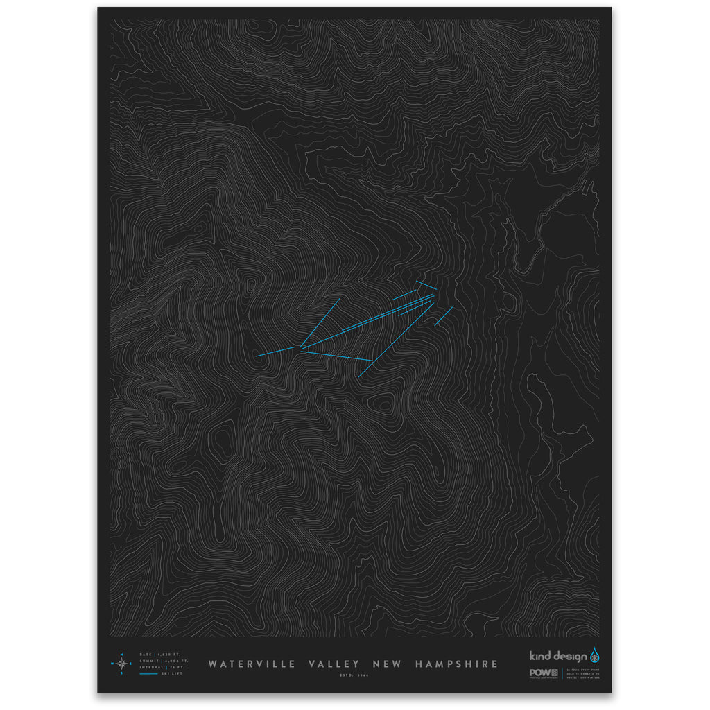 WATERVILLE VALLEY NEW HAMPSHIRE - TOPO MAP