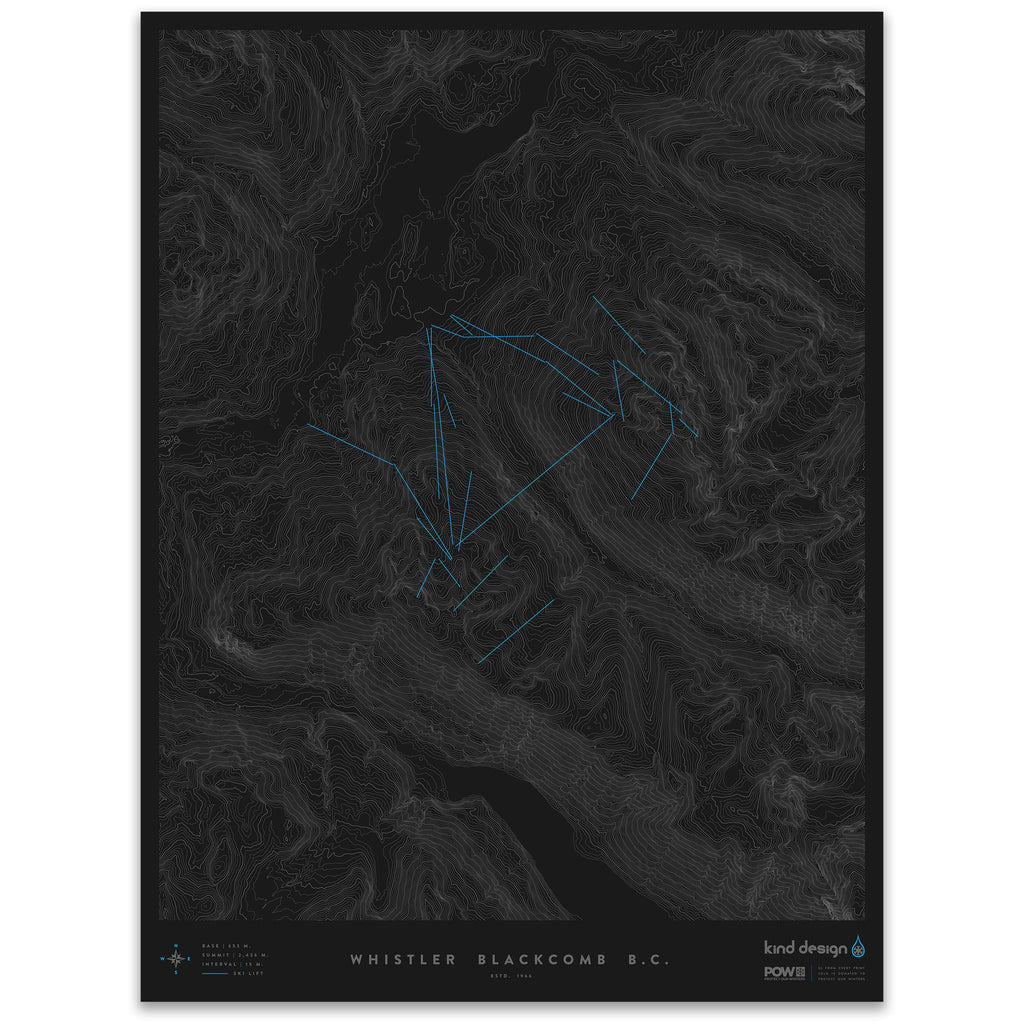 WHISTLER BLACKCOMB B.C. - TOPO MAP