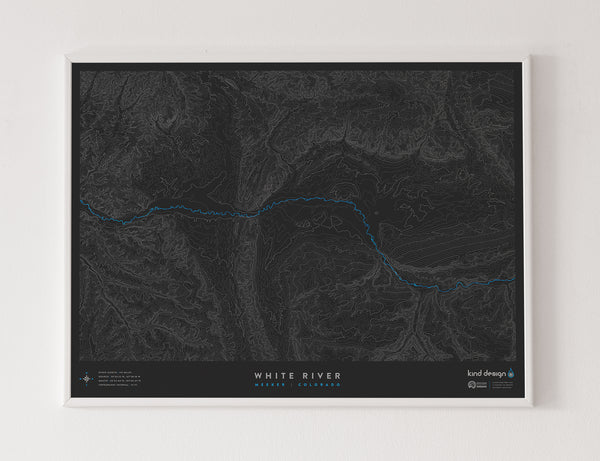 WHITE RIVER TOPO MAP - MEEKER