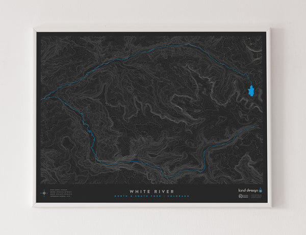 WHITE RIVER TOPO MAP - NORTH & SOUTH FORK