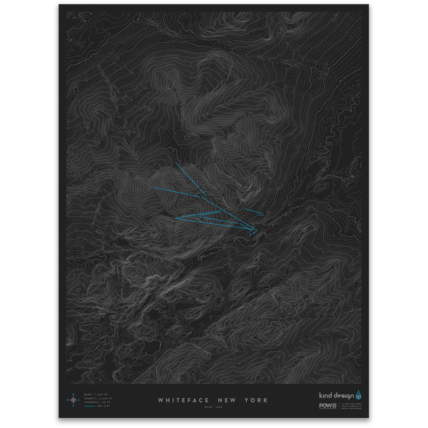 WHITEFACE NEW YORK - TOPO MAP