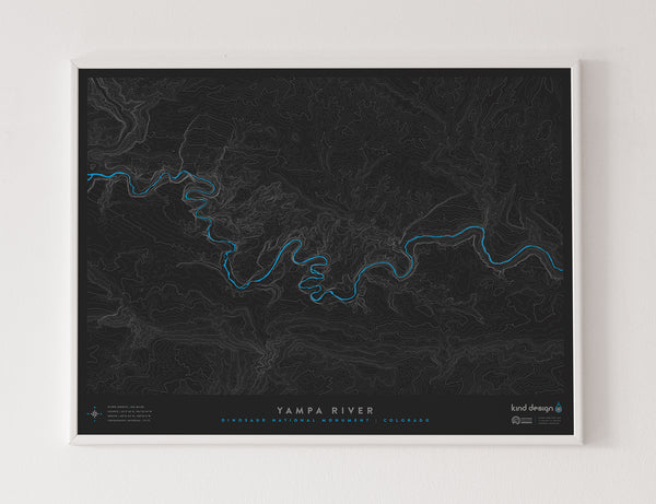 YAMPA RIVER TOPO MAP - DINOSAUR NATIONAL MONUMENT, CO