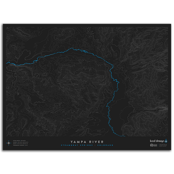 YAMPA RIVER TOPO MAP - STEAMBOAT SPRINGS, CO